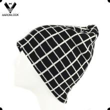 Chapeau Bonnet Grid Jacquard
