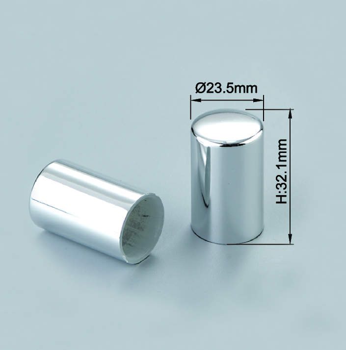 Shiny Silver Perfume Mist Sprayer Cap