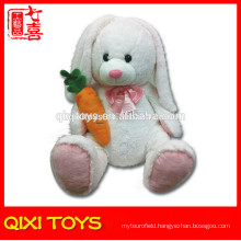 White easter stuffed rabbit toy soft plush rabbit with carrot