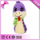 Promotional purple big eyes snake toy cute snake soft plush toys
