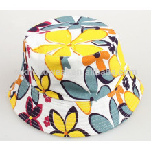 Unisex Kids Sun Hats Wholesale Floral Printing Bucket Hats