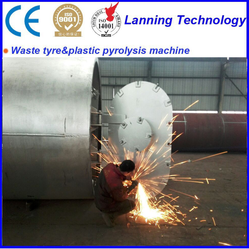 hot sale scrap tires to oil pyrolysis machine