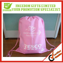 Customized Top Quality Logo Printed Cheap Drawstring Bag