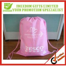Logotipo de qualidade superior personalizado impresso saco de cordão barato