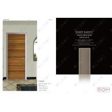 Prix moins cher porte en bois, moins cher porte composite en bois blanc pur