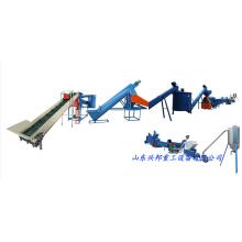 Linha de produção automática de esmagamento e lavagem de garrafas PET