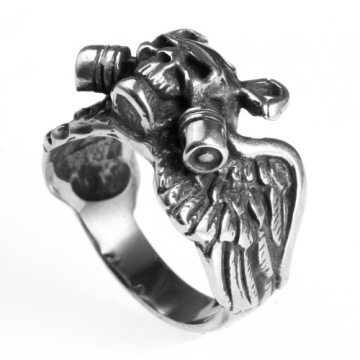 Halloween Stainless Steel Skull Finger Rings for men