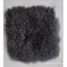 coussin de canapé en tissu de peau de mouton mongol de luxe