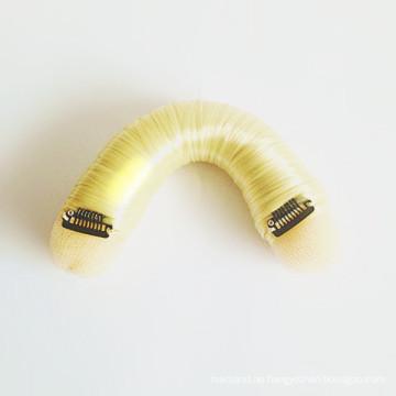 Blondes Haar Schwamm Pony für Styling (BUN-07)
