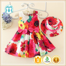 2015 neueste Mädchen casual Kleid Baby winzigen Kleid für 1-5 Jahre, Kinder Großhandel Kleider, Kinder bunte Blumen Kleidungsstücke