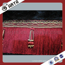 red brush bed spread fringed tassel and trims