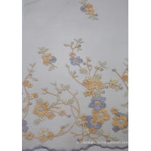 100% полиэстер модный дизайн вышивки сетка