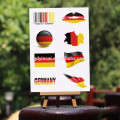 Национальный флаг татуировки наклейки для продажи