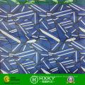 Conception géométrique avec tissu de mousseline de polyester imprimé pour la mode des dames