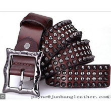 Hip-Hop Stylish Rivets Metal Leather Belt for Cool Boy Fashion Woman