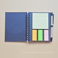 Fábrica Artesanal Capa Dura Jornal Personalizado Notebook / Planejador de Caderno Espiral Com Notas Pegajosas Memo Pad / Notebook / Diário