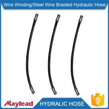 Certificate CE braided reinforced flexible rubber hydraulic hose                                                                                                         Supplier's Choice