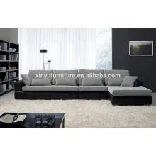 Cubierta de cuero y sofá de sala de estar de tela KW352