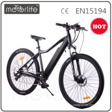 Бренд MOTORLIFE/OEM номер одобренный en15194 CE доказал 2017 новый электрический горный велосипед