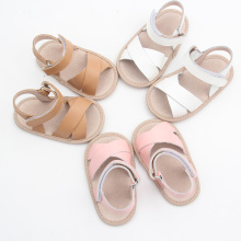 Läder Baby Sandal Rubber Sole Wholesale