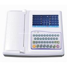 Electrocardiógrafo inteligente da máquina do canal ECG 12