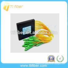 Caixa de plástico de 16 vias SC / APC PLC divisor de fibra óptica