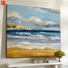 Seaside View Downtown Skyline Oil Painting