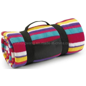 Hot Selling Warm Printed Polar Fleece Travel Blanket