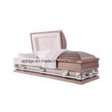 Ataúd de color de rosa y plata (gran tamaño)