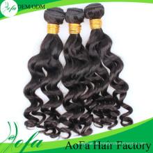 100% natürliches menschliches Remy-Haar-malaysisches Jungfrau-Haar