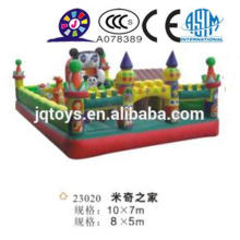 JQ23020 outdoor micky theme Inflatable Slides for Sale Inflatable Giant Slide toy with Double lane soft park bouncer balls park
