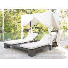 Jardim do pátio do Rattan vime mobiliário de exterior piscina Sunlounger