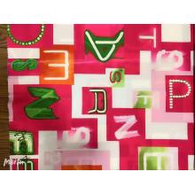 Tissu imprimé de conception de mode personnalisé de vente chaude
