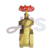 válvula de compuerta de latón forjado con mango de hierro
