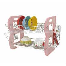 Bols en plastique à deux étages pour étagères à étagères Lishui Rack Kitchen Stands, multi-châssis