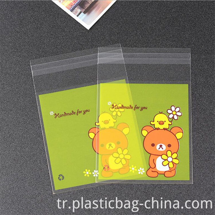 100pcs-10x13cm-10x10-3cm-Cute-Flower-Bear-Self-Adhesive-Bag-Cookie-Food-Bag-Packaging-Plastic-OPP