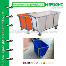 large HDPE cleaning trolley for collecting towels