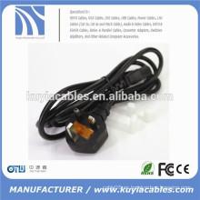UK 3-Prong cable de alimentación IEC BS Cable de alimentación Reino Unido Plug Pc Monitor Cable C13 Cordón 1,5 m, 1,8 m