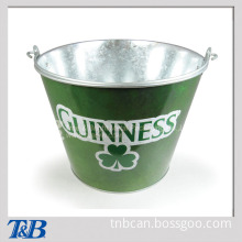 Standard Handle Galvanized Metal Tin Promotional Bar Set Ice Bucket