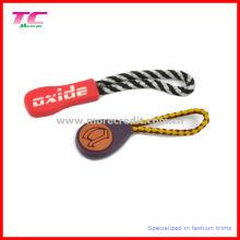 Nylon personalizado com borracha zipper puller para o saco