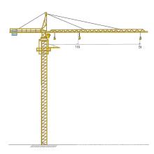 Guindaste de torre de 5 toneladas com 100 m de altura