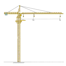 Башенный кран 5 тонн высотой 100 м