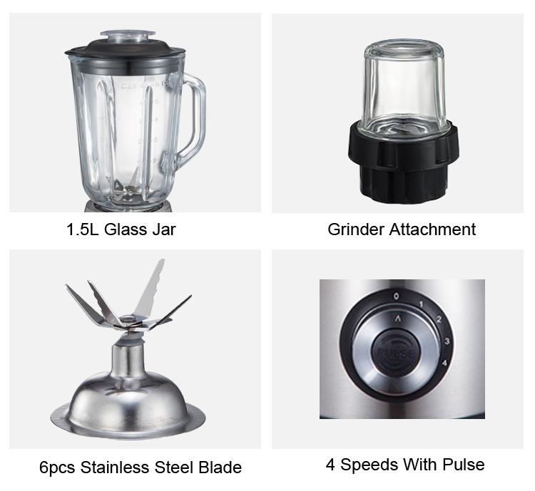 2 In 1 Kitchen Glass Blender and Grinder