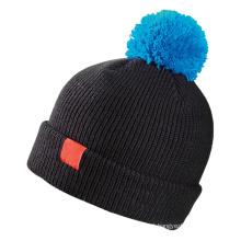 Meninas em branco inverno malha chapéu