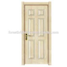 Las puertas de madera diseñan la puerta interior moderna del oscilación de la melamina