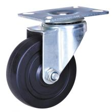 50mm light duty hard rubber wheel casters