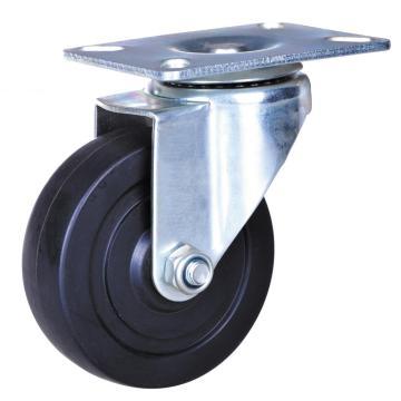 Rodízios do dever da luz da roda de borracha de 3 polegadas