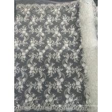 Вышивка Белый уникальные кружевные изделия ручной работы для свадебное платье 03