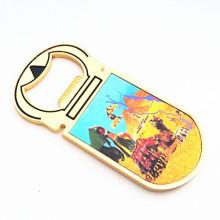 Lembrança artesanato de cor de ouro imã de geladeira com abridor de garrafas (f5029)