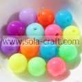 Lots Of Fluorescence Colorful Solid Acrylic Spacer Loose Beads 6MM For Children